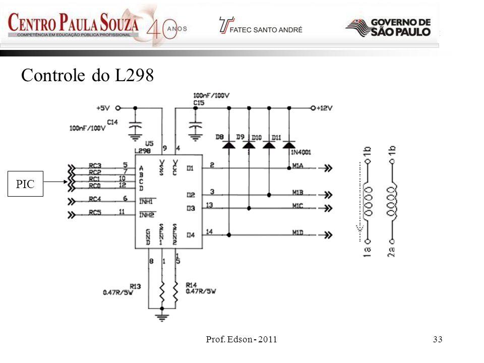 Prof. Edson - 201133 Controle do L298 PIC
