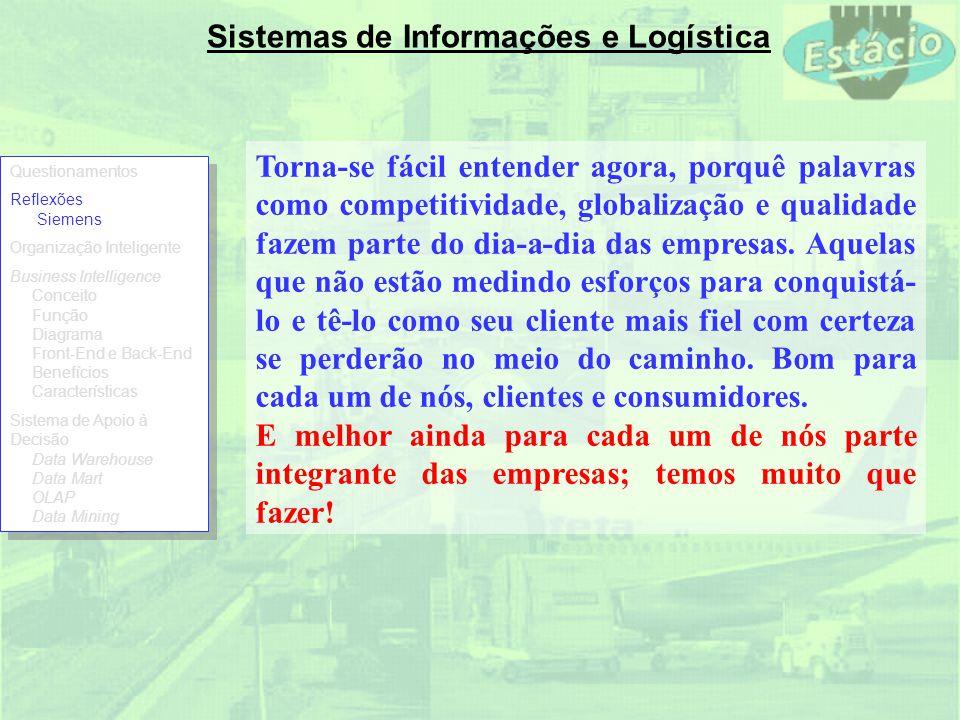 Sistemas de Informações e Logística O que é uma Organização Inteligente.