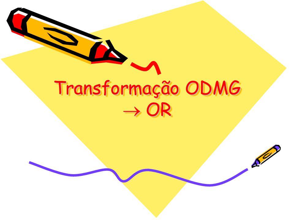 Transformação ODMG OR