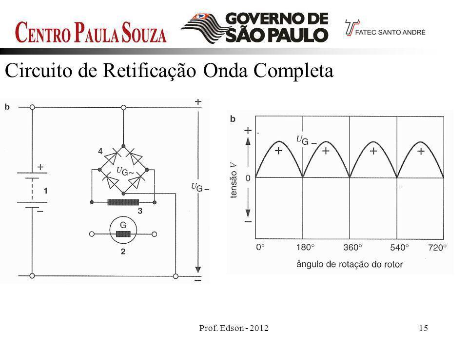 Prof. Edson - 201215 Circuito de Retificação Onda Completa