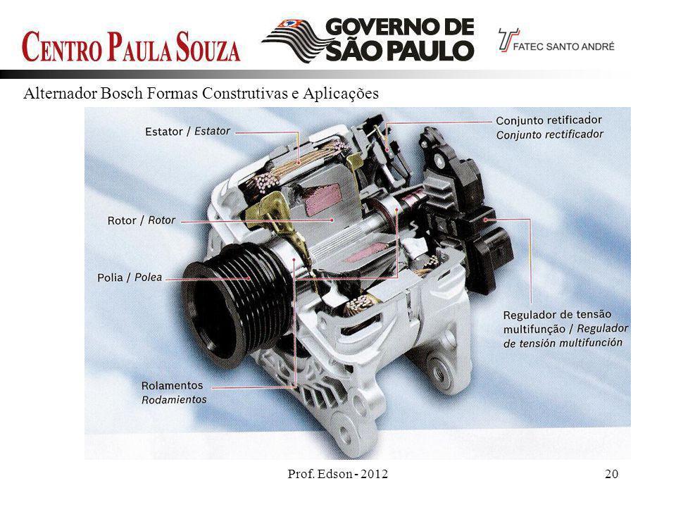 Prof. Edson - 201220 Alternador Bosch Formas Construtivas e Aplicações