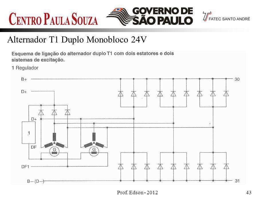 Prof. Edson - 201243 Alternador T1 Duplo Monobloco 24V