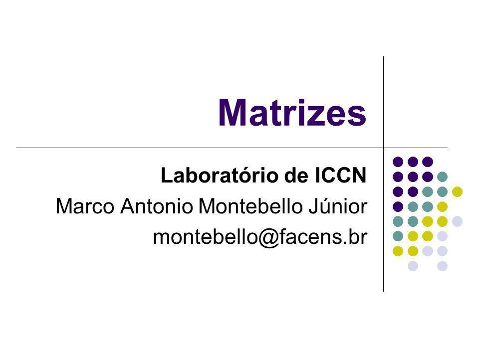 Matrizes Laboratório de ICCN Marco Antonio Montebello Júnior montebello@facens.br