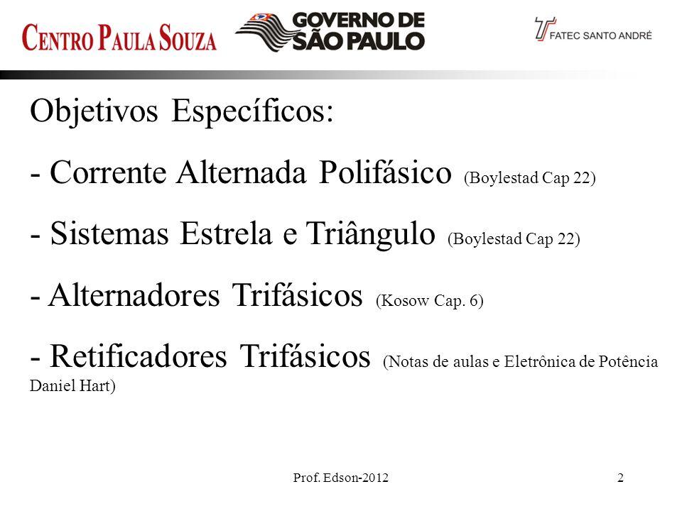 Prof. Edson-2012 23 Retificador Onda CompletaTrifásico