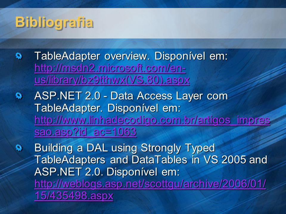 Bibliografia TableAdapter overview.
