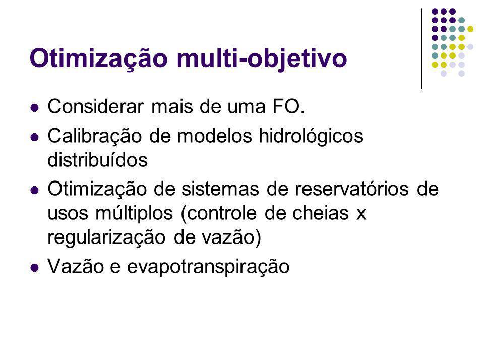 Otimização multi-objetivo Considerar mais de uma FO.