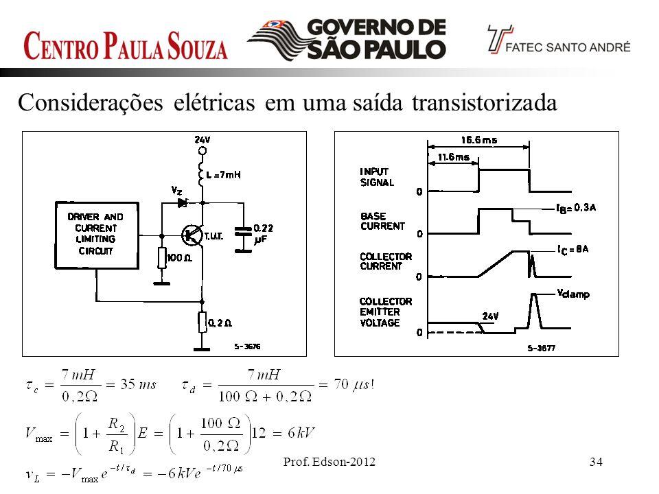Prof. Edson-201234 Considerações elétricas em uma saída transistorizada