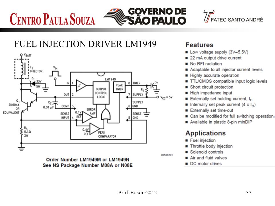 Prof. Edson-201235 FUEL INJECTION DRIVER LM1949