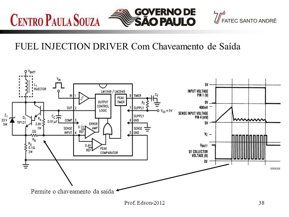 Prof. Edson-201238 FUEL INJECTION DRIVER Com Chaveamento de Saída Permite o chaveamento da saída