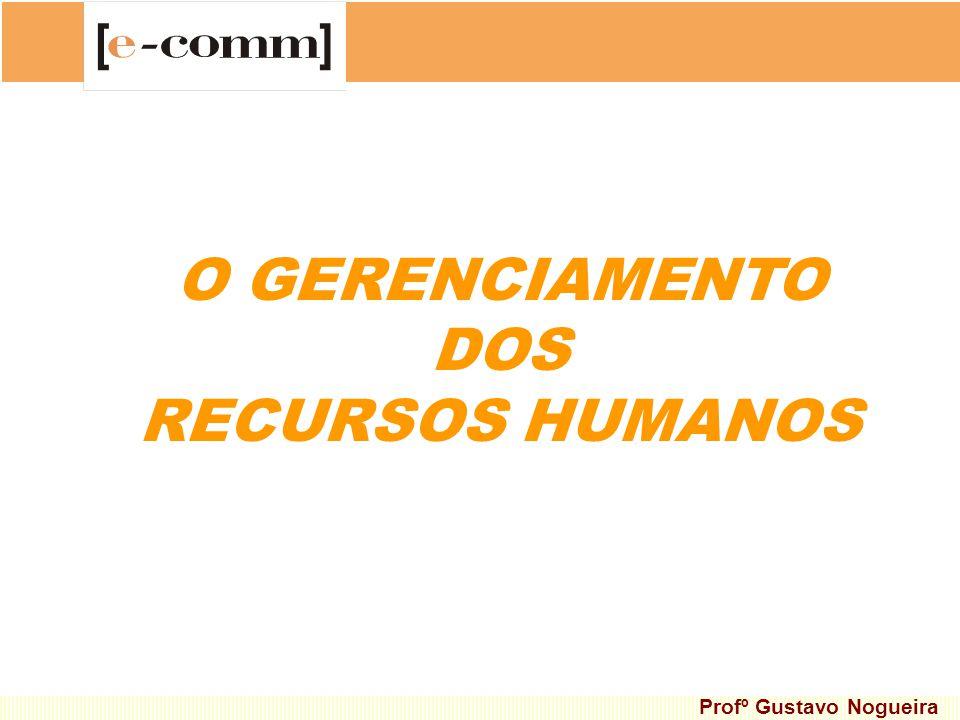O GERENCIAMENTO DOS RECURSOS HUMANOS Profº Gustavo Nogueira