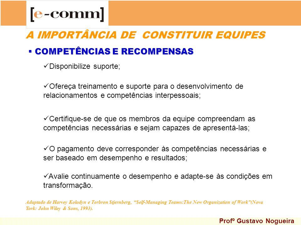 Disponibilize suporte; Ofereça treinamento e suporte para o desenvolvimento de relacionamentos e competências interpessoais; COMPETÊNCIAS E RECOMPENSA