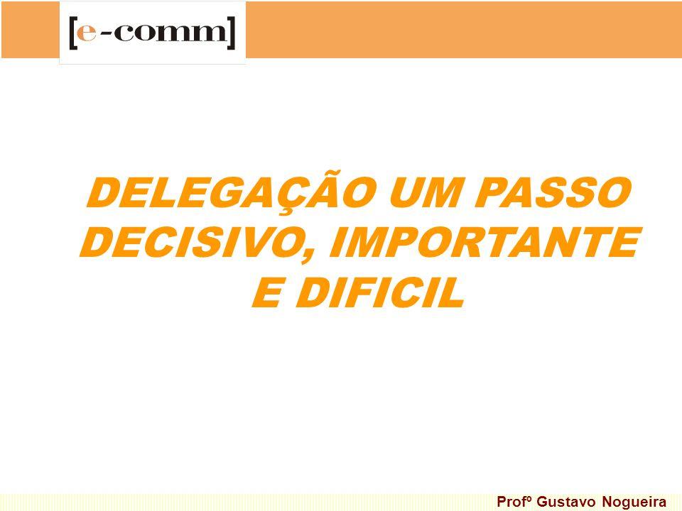 DELEGAÇÃO UM PASSO DECISIVO, IMPORTANTE E DIFICIL Profº Gustavo Nogueira