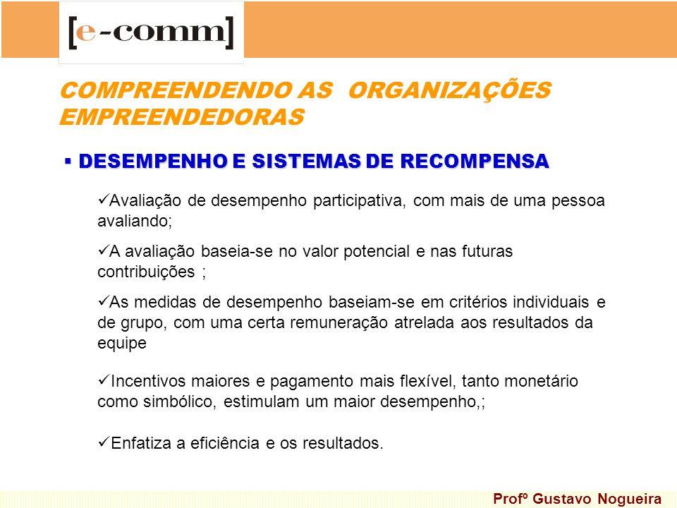 DESEMPENHO E SISTEMAS DE RECOMPENSA DESEMPENHO E SISTEMAS DE RECOMPENSA A avaliação baseia-se no valor potencial e nas futuras contribuições ; As medi