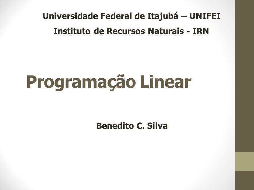 Programação Linear Benedito C.