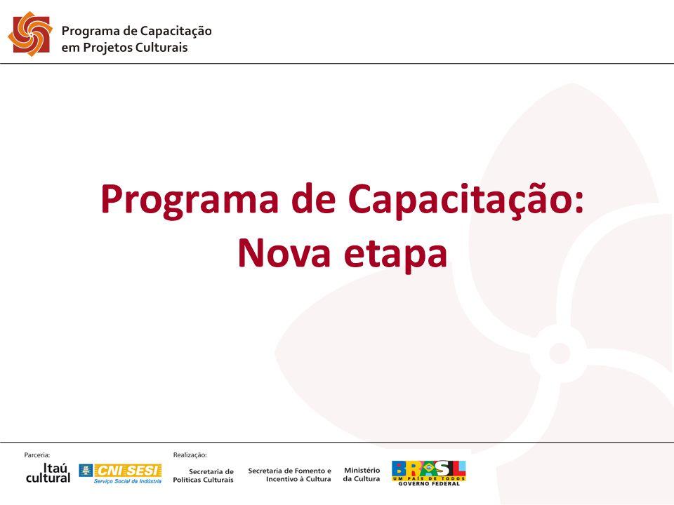 Programa de Capacitação: Nova etapa