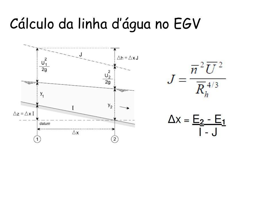 Cálculo da linha dágua no EGV