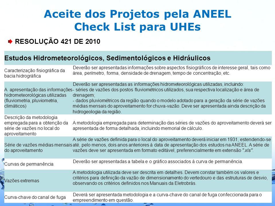 Page 5 Diretrizes da ANEEL para Estudos Hidrológicos de Projeto de PCHs Diretrizes para Estudos e Projetos de Pequenas Centrais Hidrelétricas.