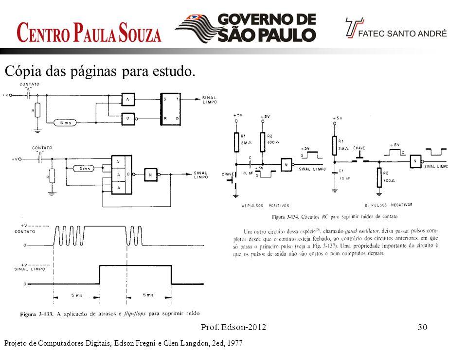 Prof. Edson-201230 Cópia das páginas para estudo. Projeto de Computadores Digitais, Edson Fregni e Glen Langdon, 2ed, 1977