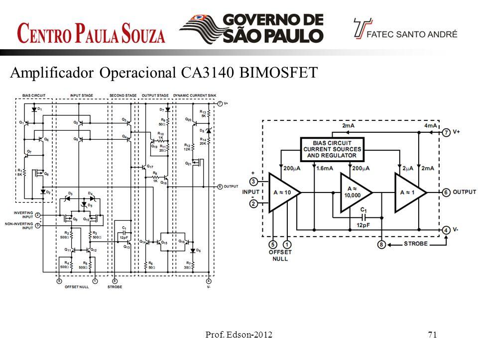 Prof. Edson-201271 Amplificador Operacional CA3140 BIMOSFET
