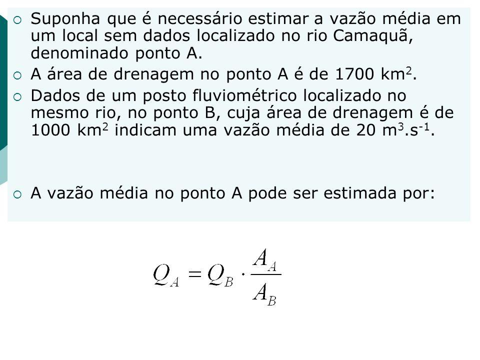 68 Regionalização Regionalizar valores característicos Qp = f( A, P, DD,...) uso de Q 50 e Q 95 porque representam o trecho médio e parte do inferior da curva de permanência exemplo no rio Uruguai