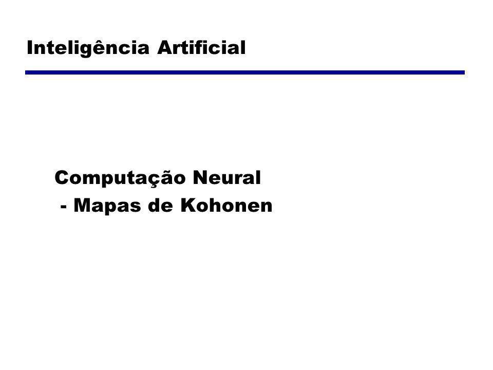 Introdução Desenvolvidos por Kohonen em 1982 Inspirado na fisiologia dos neurônios: quando um neurônio é ativado a área ao seu redor é excitada Processo de aprendizagem competitiva