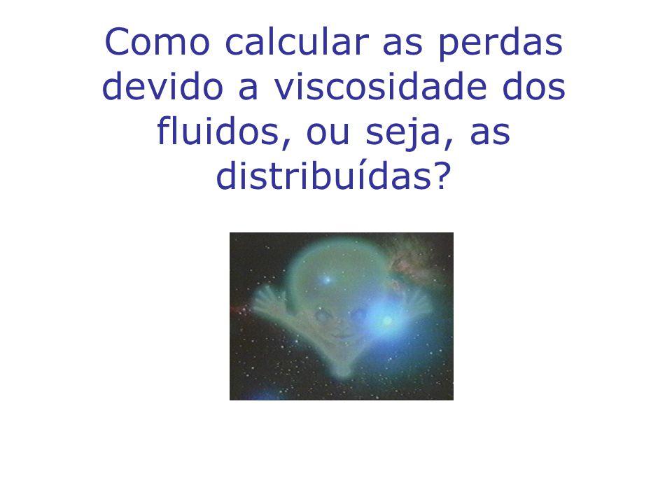 Como calcular as perdas devido a viscosidade dos fluidos, ou seja, as distribuídas?