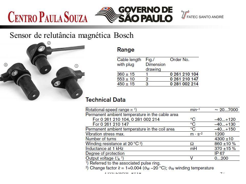 Prof. Edson - 201247 Sensor de relutância magnética Bosch