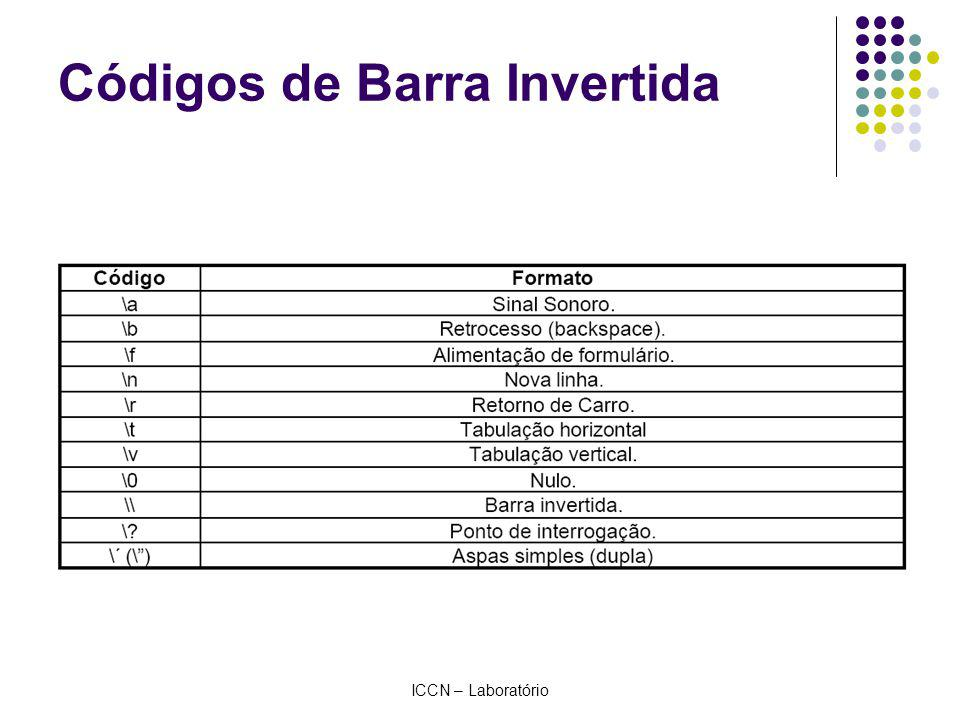 ICCN – Laboratório Códigos de Barra Invertida