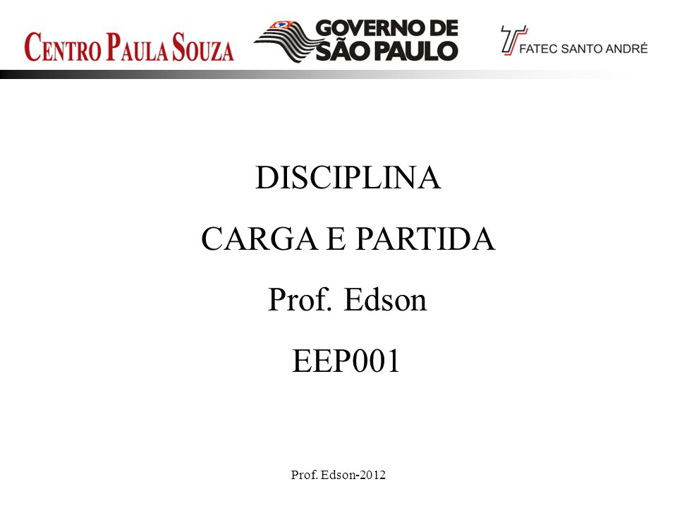 Prof. Edson-201262 Disjuntor Automotivo para Som
