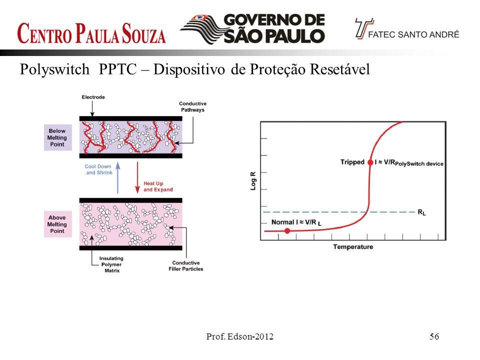 Prof. Edson-201256 Polyswitch PPTC – Dispositivo de Proteção Resetável