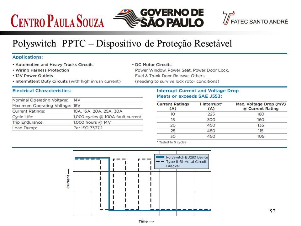 Prof. Edson-201257 Polyswitch PPTC – Dispositivo de Proteção Resetável