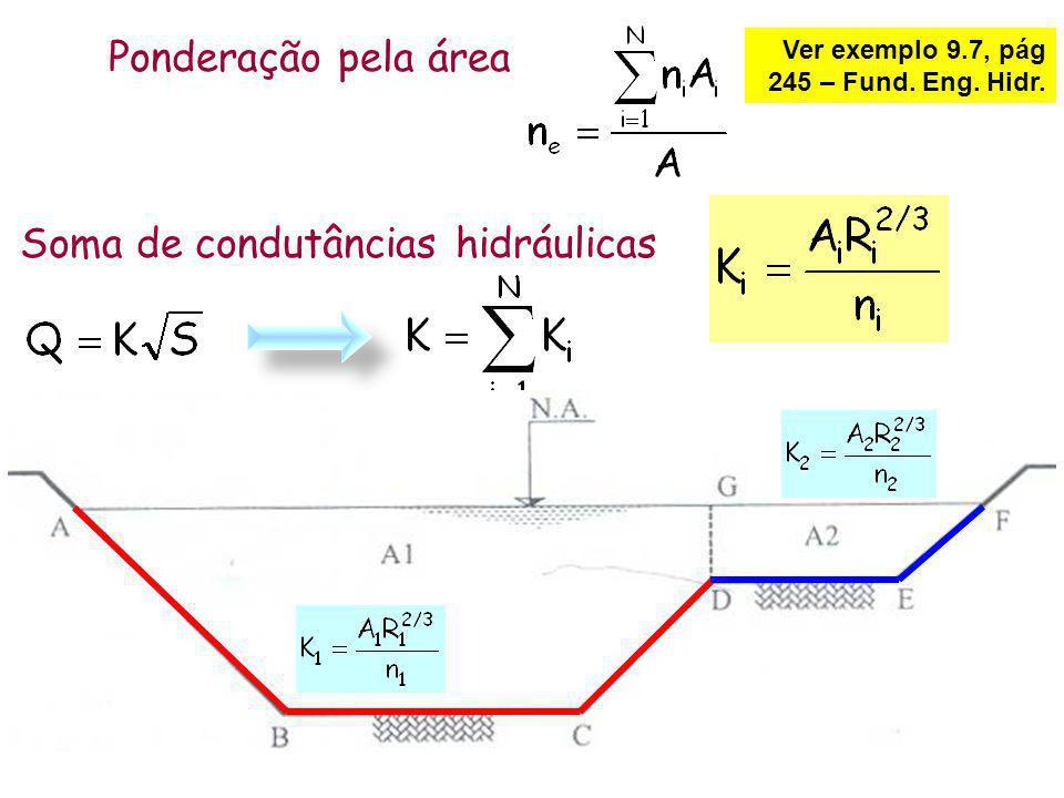 Ponderação pela área Soma de condutâncias hidráulicas Ver exemplo 9.7, pág 245 – Fund. Eng. Hidr.