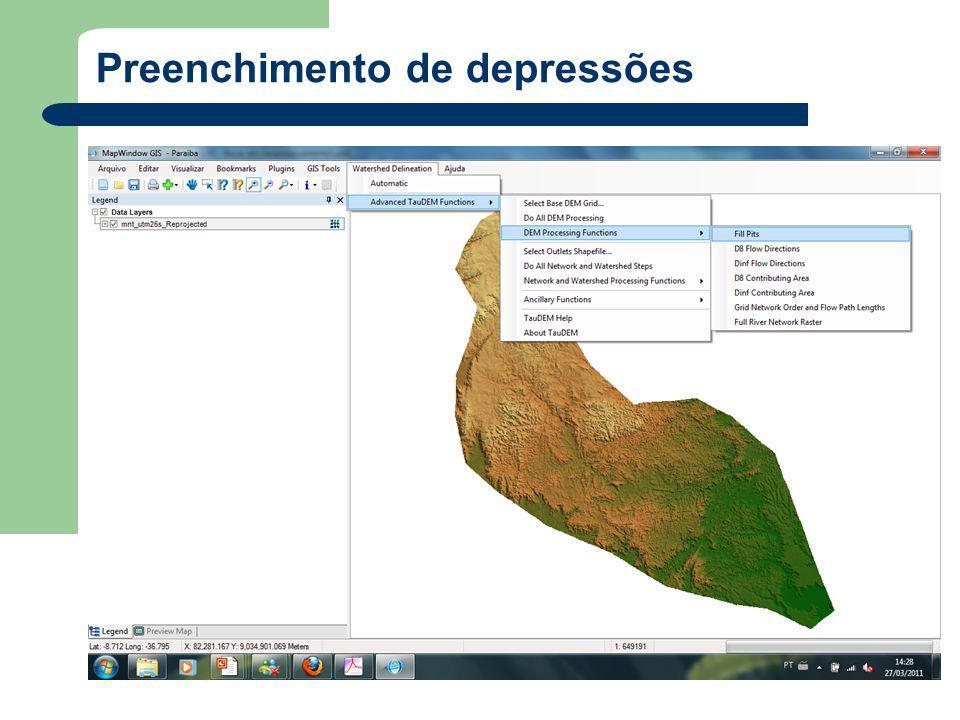 Preenchimento de depressões