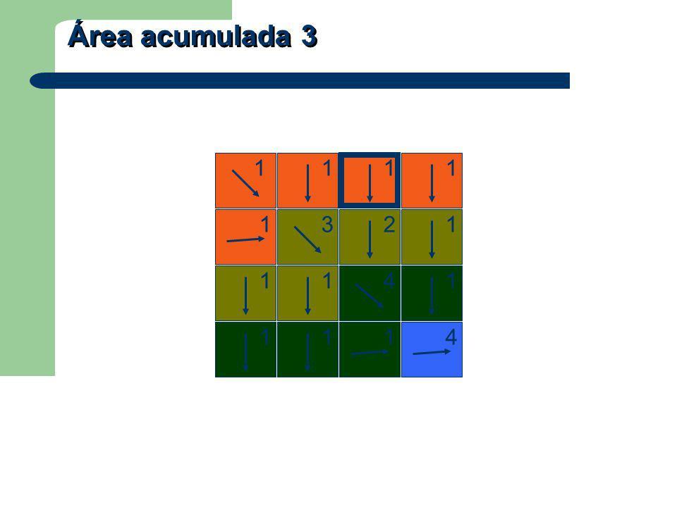 Área acumulada 3 1 1 12 1 3 1114 4 1 111 1