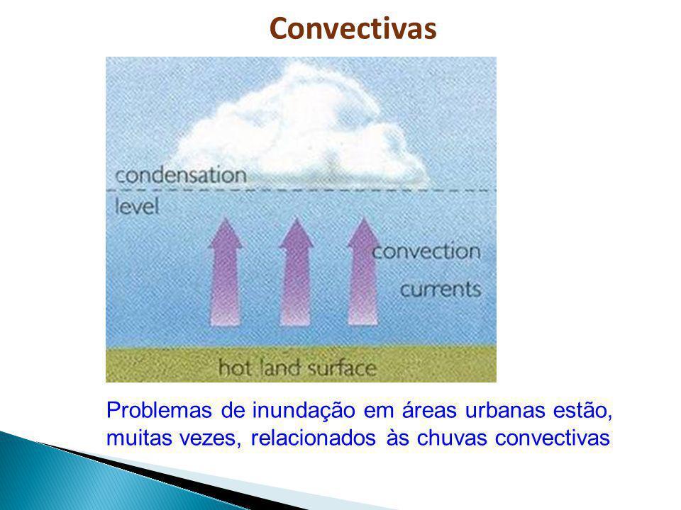 Problemas de inundação em áreas urbanas estão, muitas vezes, relacionados às chuvas convectivas Convectivas