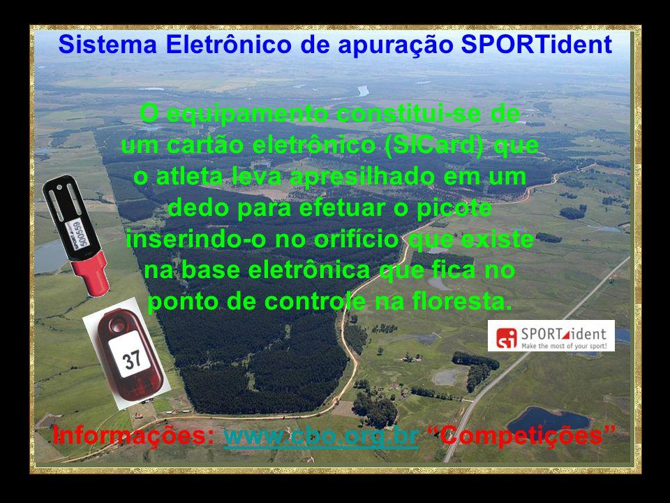 Informações: www.cbo.org.br Competiçõeswww.cbo.org.br Sistema Eletrônico de apuração SPORTident Este equipamento, importado pela CBO da Alemanha, será