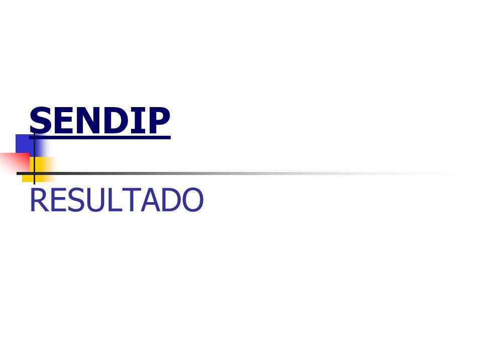 SENDIP RESULTADO
