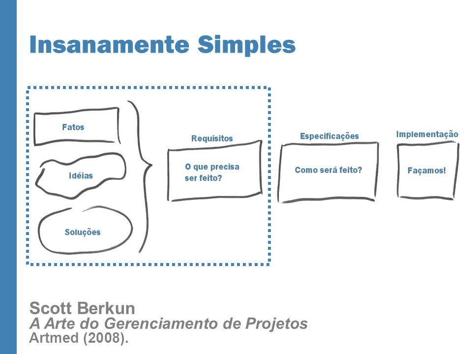 Insanamente Simples Scott Berkun A Arte do Gerenciamento de Projetos Artmed (2008).