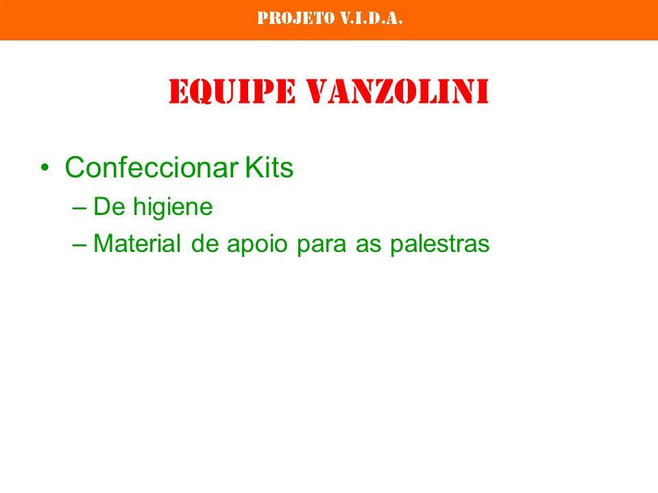 Equipe Vanzolini Confeccionar Kits –De higiene –Material de apoio para as palestras