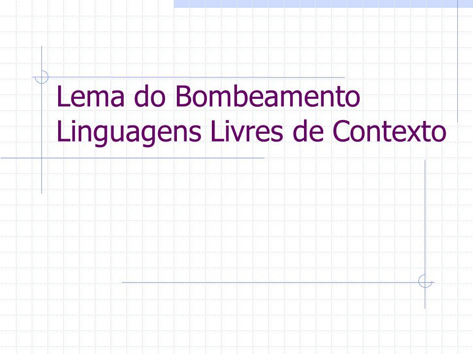 Lema do Bombeamento Linguagens Livres de Contexto
