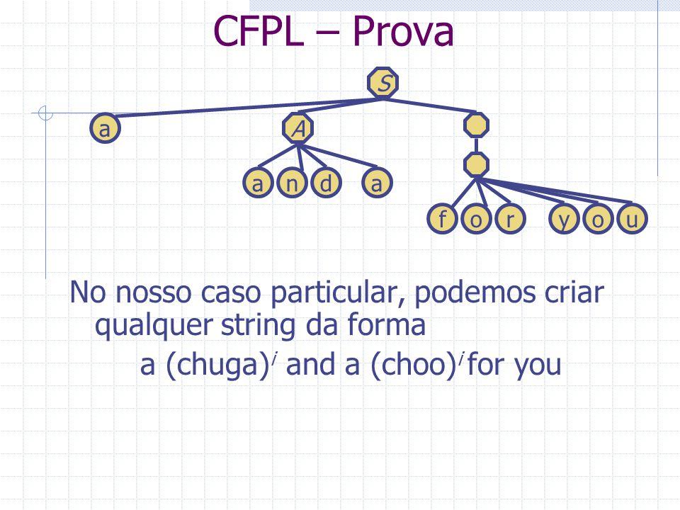 CFPL – Prova No nosso caso particular, podemos criar qualquer string da forma a (chuga) i and a (choo) i for you foryou S aA anda