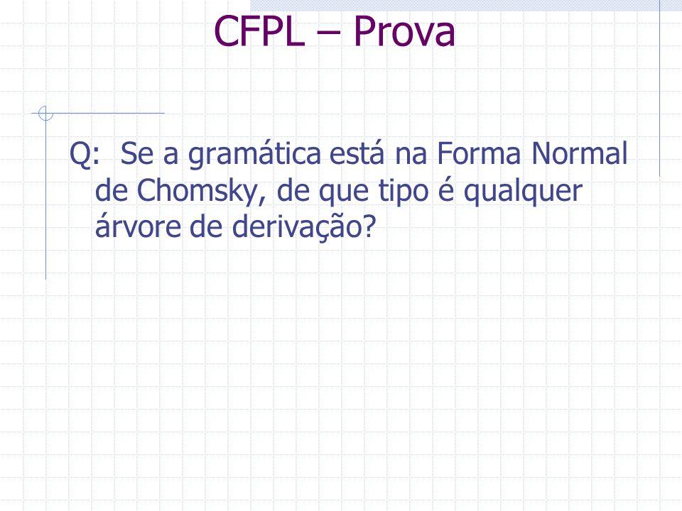 CFPL – Prova Q: Se a gramática está na Forma Normal de Chomsky, de que tipo é qualquer árvore de derivação?