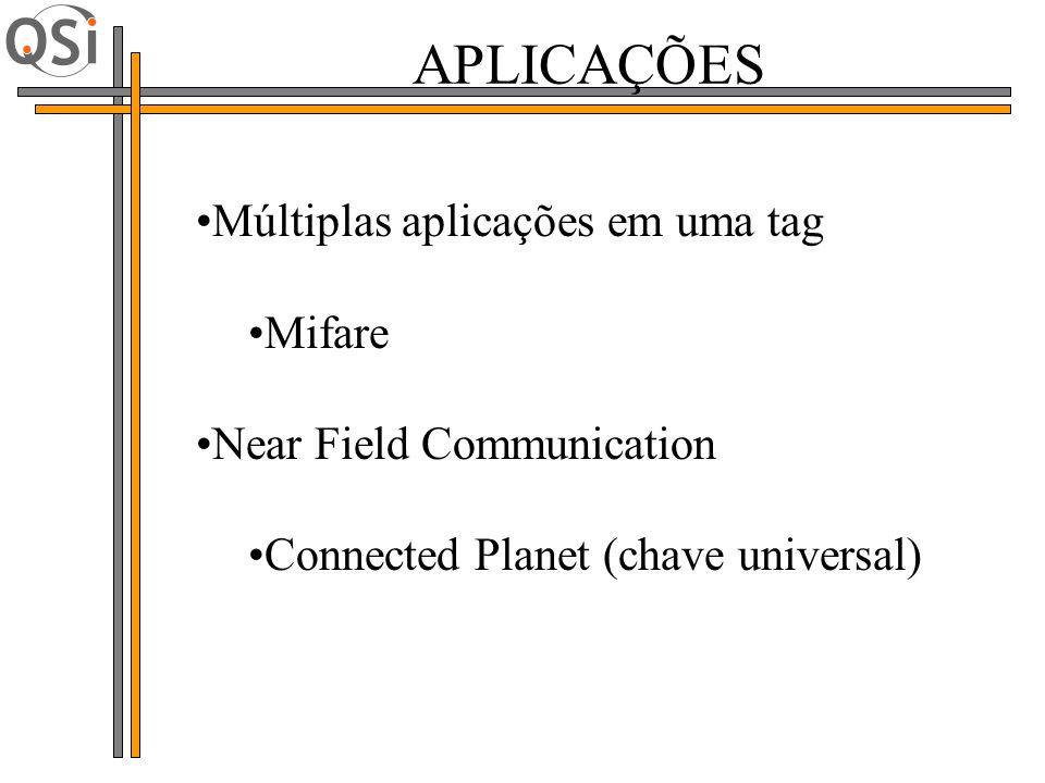 Múltiplas aplicações em uma tag Mifare Near Field Communication Connected Planet (chave universal) APLICAÇÕES