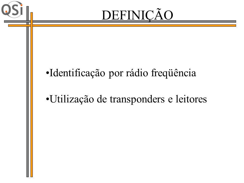 Identificação por rádio freqüência Utilização de transponders e leitores DEFINIÇÃO
