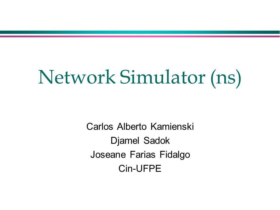 Network Simulator (ns) Carlos Alberto Kamienski Djamel Sadok Joseane Farias Fidalgo Cin-UFPE