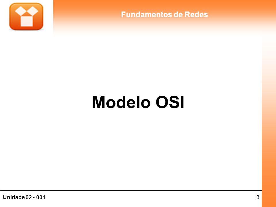 3Unidade 02 - 001 Fundamentos de Redes Modelo OSI
