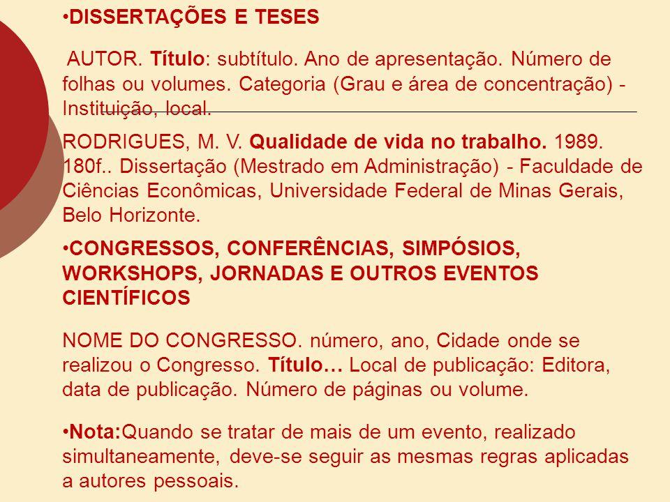 JORNADAS JORNADA INTERNA DE INICIAÇÃO CIENTÍFICA, 18, JORNADA INTERNA DE INICIAÇÃO ARTÍSTICA E CULTURAL, 8, 1996, Rio de Janeiro.
