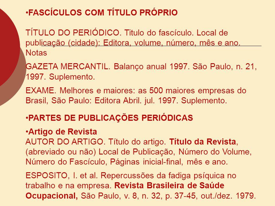 ARTIGO DE JORNAL AUTOR DO ARTIGO.Título do artigo.