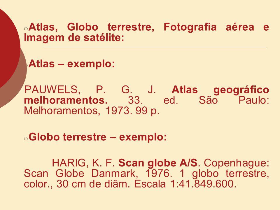 MAPAS E CARTAS TOPOGRÁFICAS: Modelo AUTOR.Título do documento cartográfico: subtítulo.