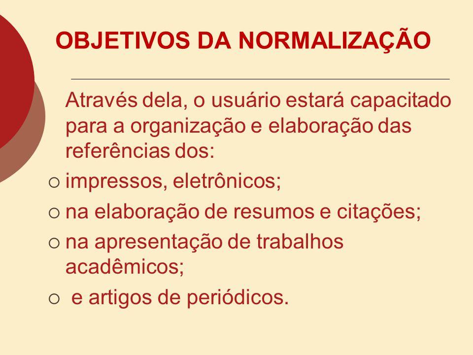 ELEMENTOS DA ESTRUTURA DE UM TRABALHO ACADÊMICO: